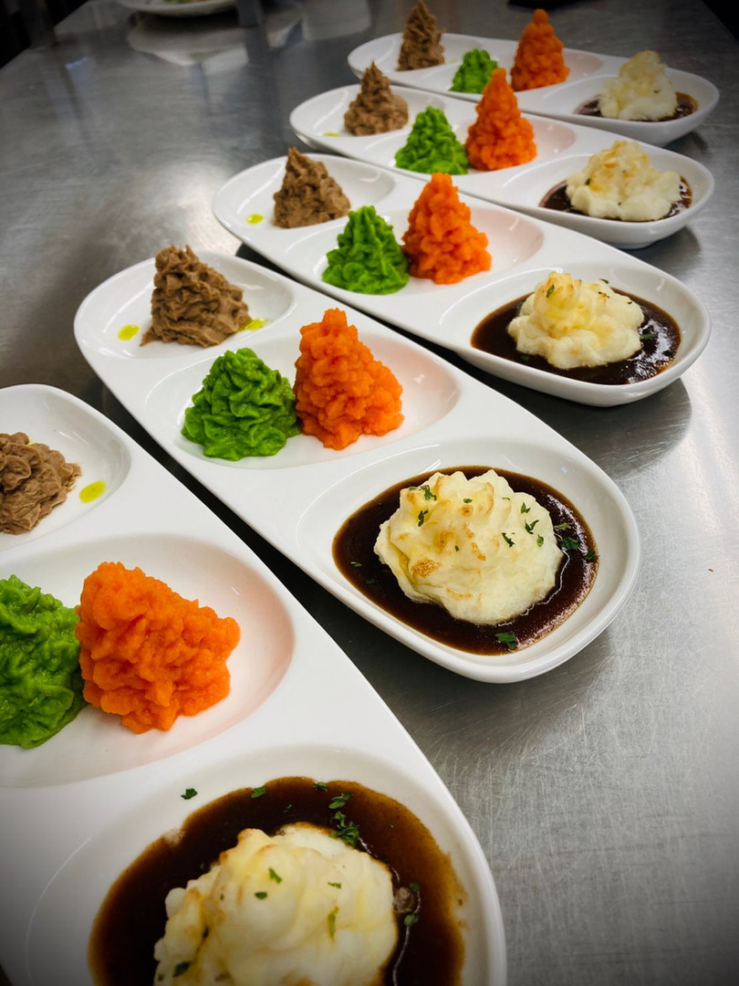 Puree food from dietary team