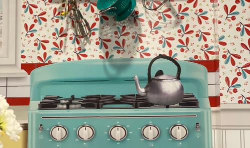 1950s Kitchen Sensory Mural