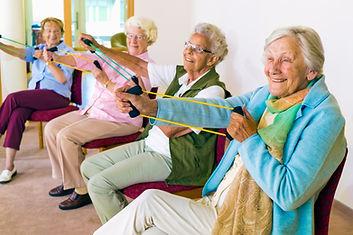 Senior Woman Doing Resistance Band Workout