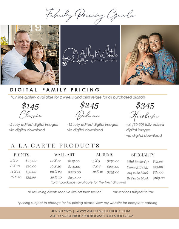 One Page Family PricingSheet-8.5x11new.j