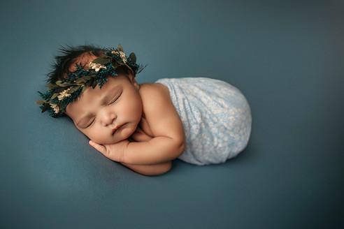Baby girl newborn session Norman OK