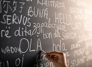 Avec différentes langues Chalkboard