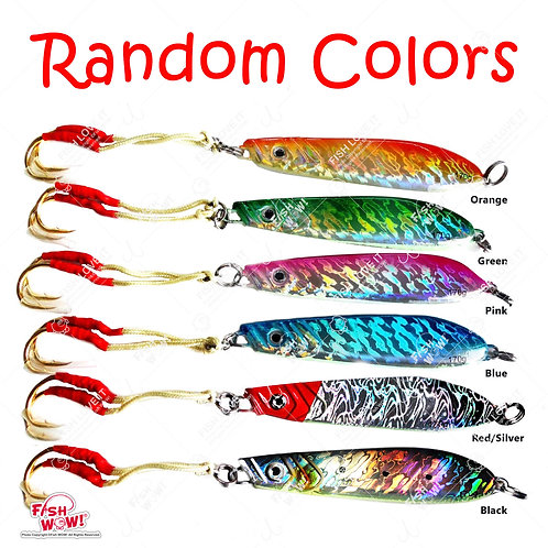 170g Knife Jig Random Colors - 10 pieces