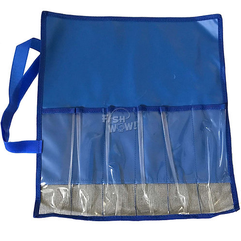 Blue lure bag front view