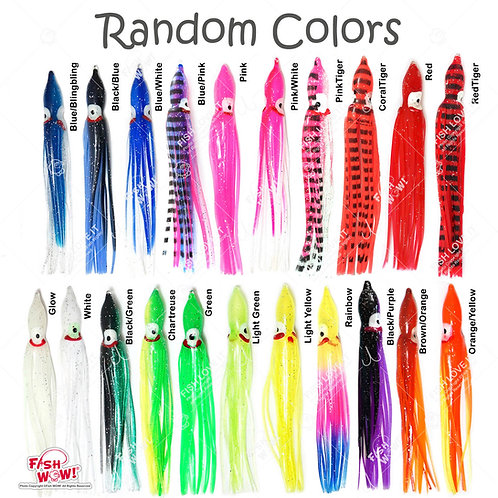 "4.75"" Squid Skirt Random Colors - 100pcs"