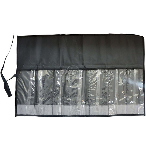 7-Pocket Roll-up Tackle Storage Bag - Black