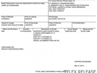 How to use the Bill of Lading for your ISF Filing