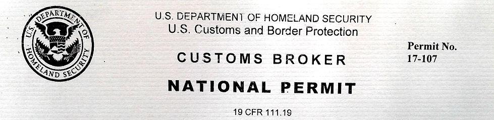 Custms Broker Permit