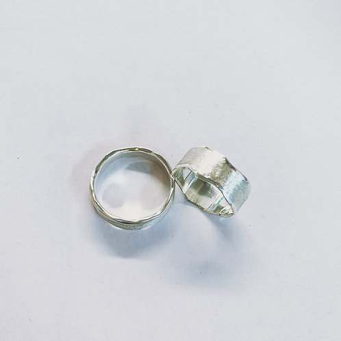 Ring Silver Frost Handmade