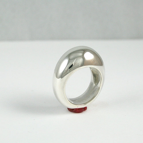 Ring Silver Domed