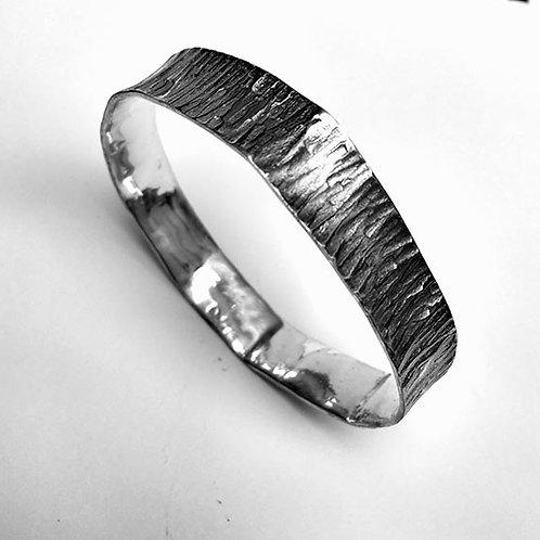 Silver Tree BarkCuff Bracelet