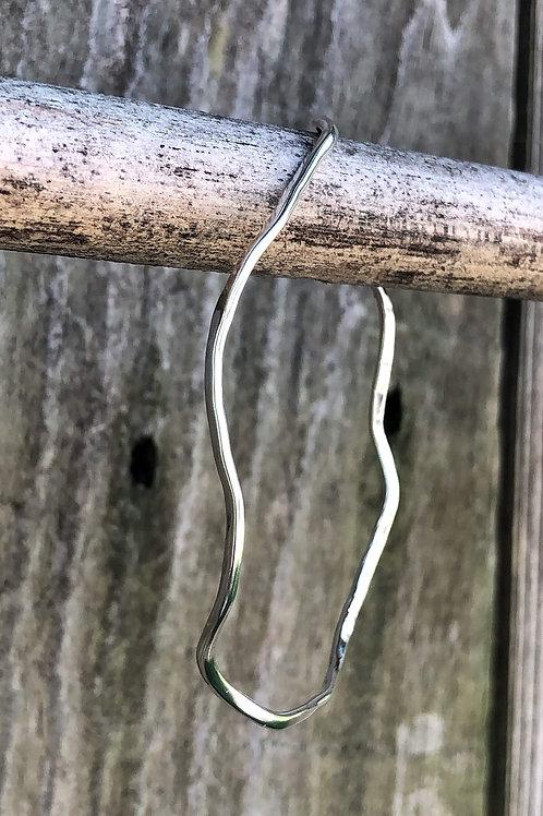 Wave Silver Bangle Bracelet