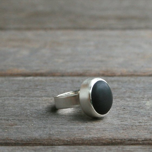 Silver Iceland Lava Ring