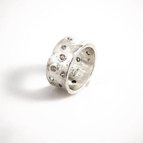 Silver Iceland Frost Ring