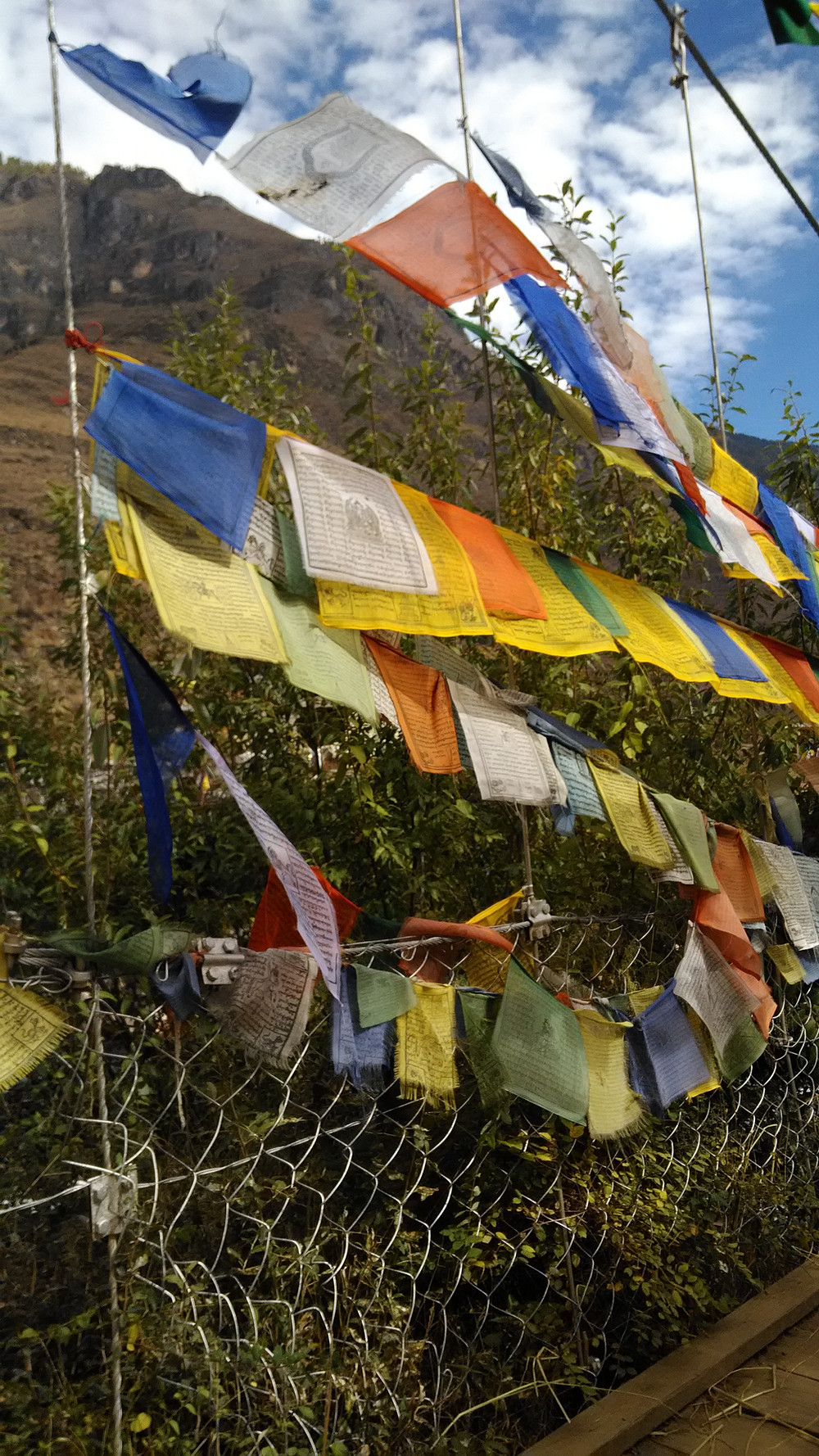 Rukouslippujen keltainen, vihreä, punainen, valkoinen ja sininen kuvaavat maa-, vesi-, tuli-, ilma- ja tilaelementtiä. Liput voivat estää kärsimyksiä, luonnonmullistuksia tai sairauksia – ja muuntaa kielteisiä voimia myönteisiksi. Tarkoitus on luoda olosuhteita, joissa elää luonnon tasapainossa.