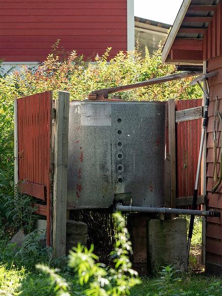 Mittumaarivaarassa kerätään sadevesi talteen.