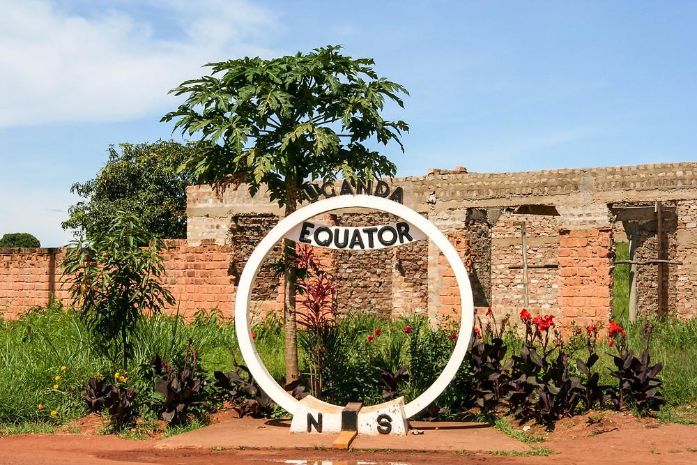 Uganda sijaitsee aivan päiväntasaajalla