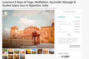 Viikko Jaipurin vaaleanpunaisessa kaupungissa maksaa 1027 euroa.