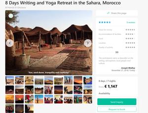 Marokossa voi joogata autiomaassa.
