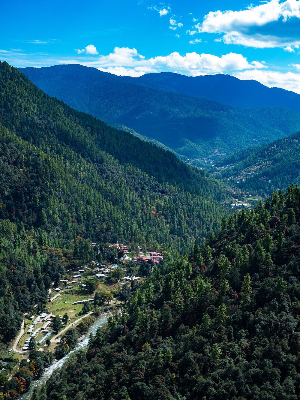 Bhutanissa korkeuserot ovat jopa 7 kilometriä.