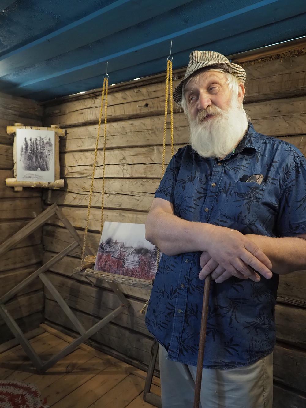 Ortjo Stepanovin poika Miihkali toimii usein Haikolan ja sen historian esittelijänä.