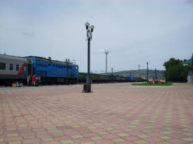 Kuvassa aito Siperian juna, tosin vuosi on 2014.