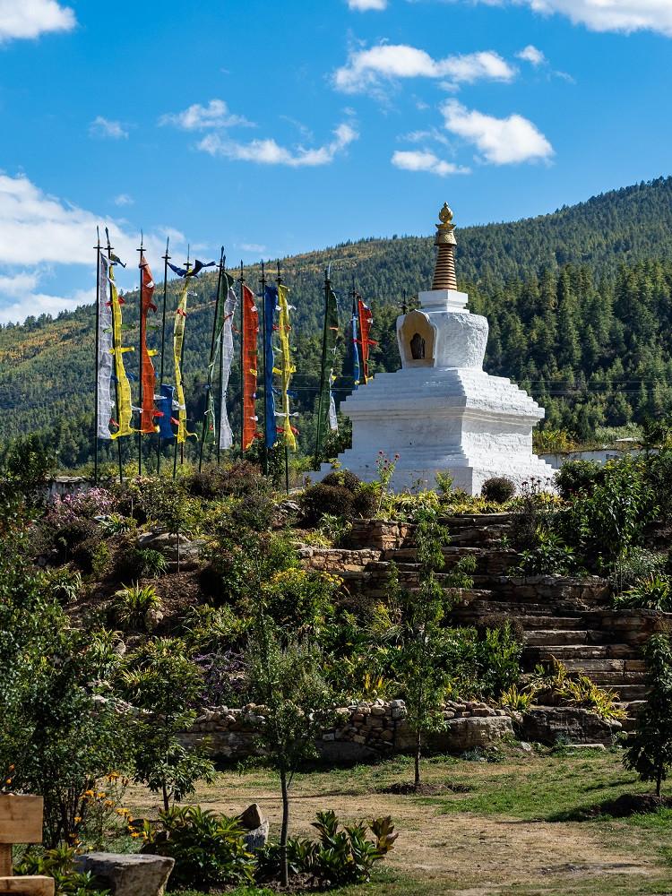 Buddhalaisia rukouslippuja Bhutanissa.