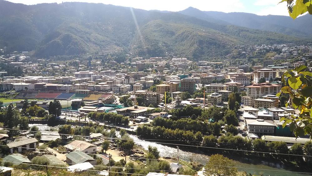 Pääkaupunki Thimphu kasvaa kovaa vauhtia.