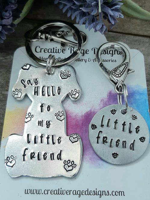 Keyring and Dog Collar Charm - Say Hello...