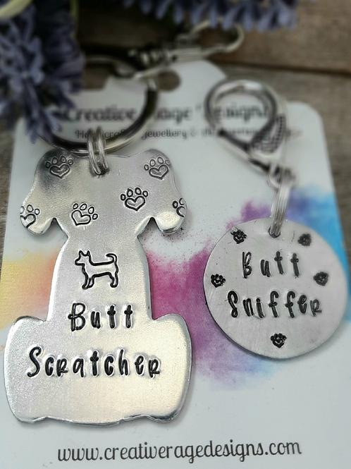 Keyring & Collar Charm - Butt Scratcher/Sniffer