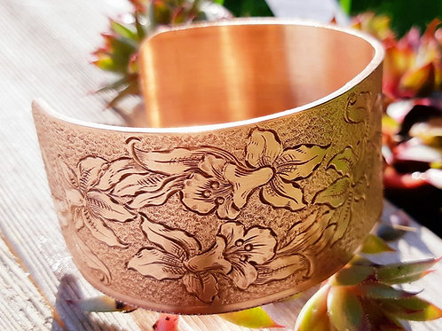 Limited Edition Daffodil Copper Cuff