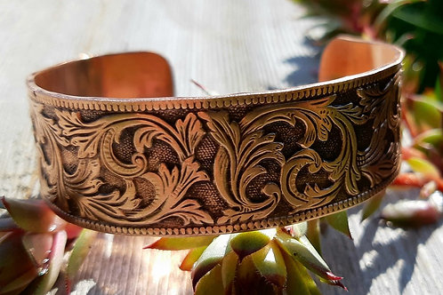 Limited Edition Flourish Copper Cuff