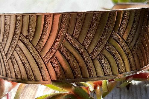 Limited Edition Line Work Copper Cuff