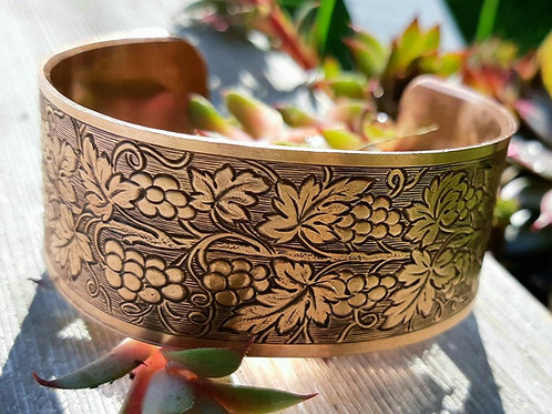 Limited Edition Grape Vine Copper Cuff