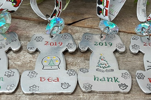 Cat or Dog Christmas Ornaments