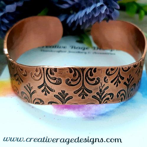 Fleur Des Lis Inspired Copper Cuff