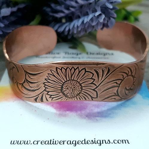 Sunflower Copper Wavy Cuff