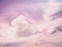 nuvens cor de rosa
