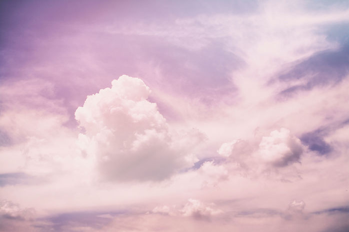 lyserøde skyer