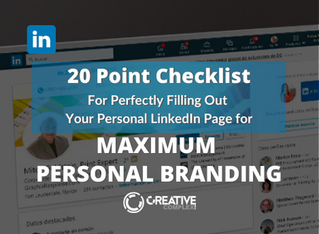 20-Point Checklist for Perfectly Filling Out Your LinkedIn Page for Maximum Personal Branding