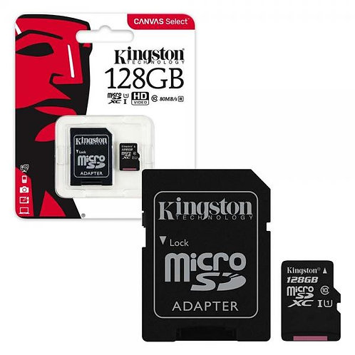 Kingston Memory MicroSD Card 128GB c адаптер UHS-I /CLASS 10/