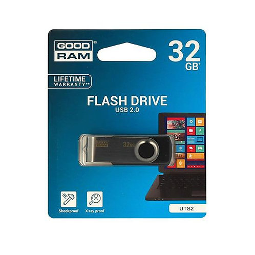 USB Flash памет 32GB GOODRAM TWISTER PENDRIVE USB 2.0 Черен