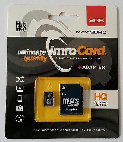 IMRO Memory MicroSD Card 8GB с адаптер UHS /CLASS 10/