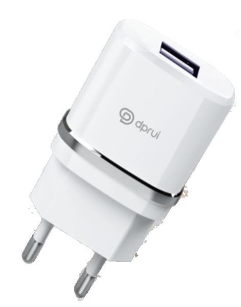 Зарядно/Адаптор Dprui C1 220V - 2.1A /бял/ Баркод : 455133