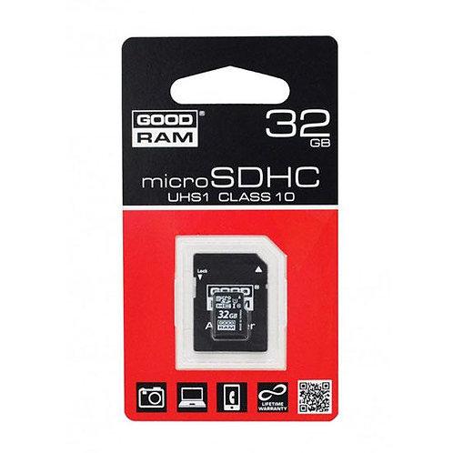 GOODRAM Memory MicroSD Card 32GB с адаптер UHS I /CLASS 10/