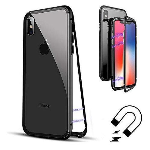 PVC Магнитен калъф Прозрачен гръб Сребърна рамка за iPhone 7G / 8G 4.7 / SE 2020