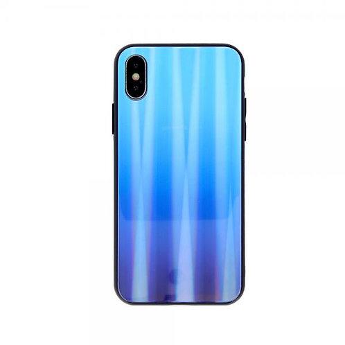 Калъф Aurora Glass Case /Светлосин-Тъмносин/ за iPhone 7G / 8G / SE (2020)