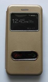 Калъф тефтер ИНФО /Златен/ за iPhone 7G / 8G 4.7 / SE (2020)