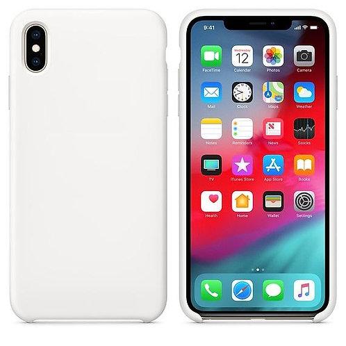 Калъф Силикон LSR / Бял / за iPhone X / XS 5.8