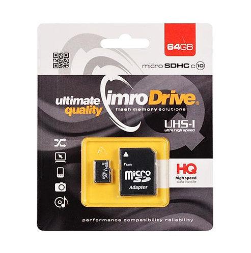 IMRO Memory MicroSD Card 64GB с адаптер UHS /CLASS 10/